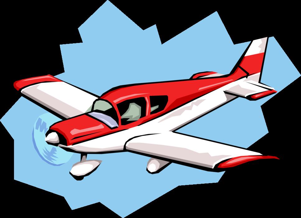 vector stock Propeller aircraft airplane image. Vector aviation illustrator