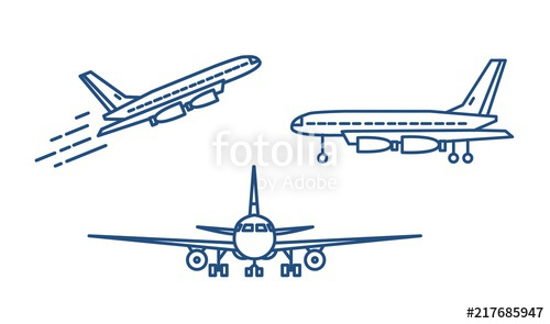 clip royalty free stock Vector aviation jumbo jet. Modern airplane passenger plane