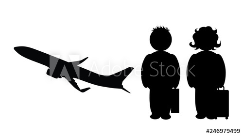 picture black and white stock Vector aviation person. Illustration of travel icon