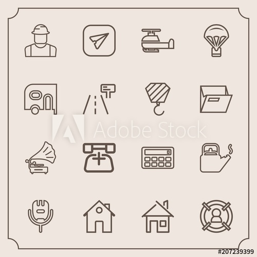 graphic free stock Modern simple icon set. Vector aviation person