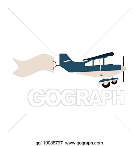 clip art free Vector aviation small airplane. Art with banner eps