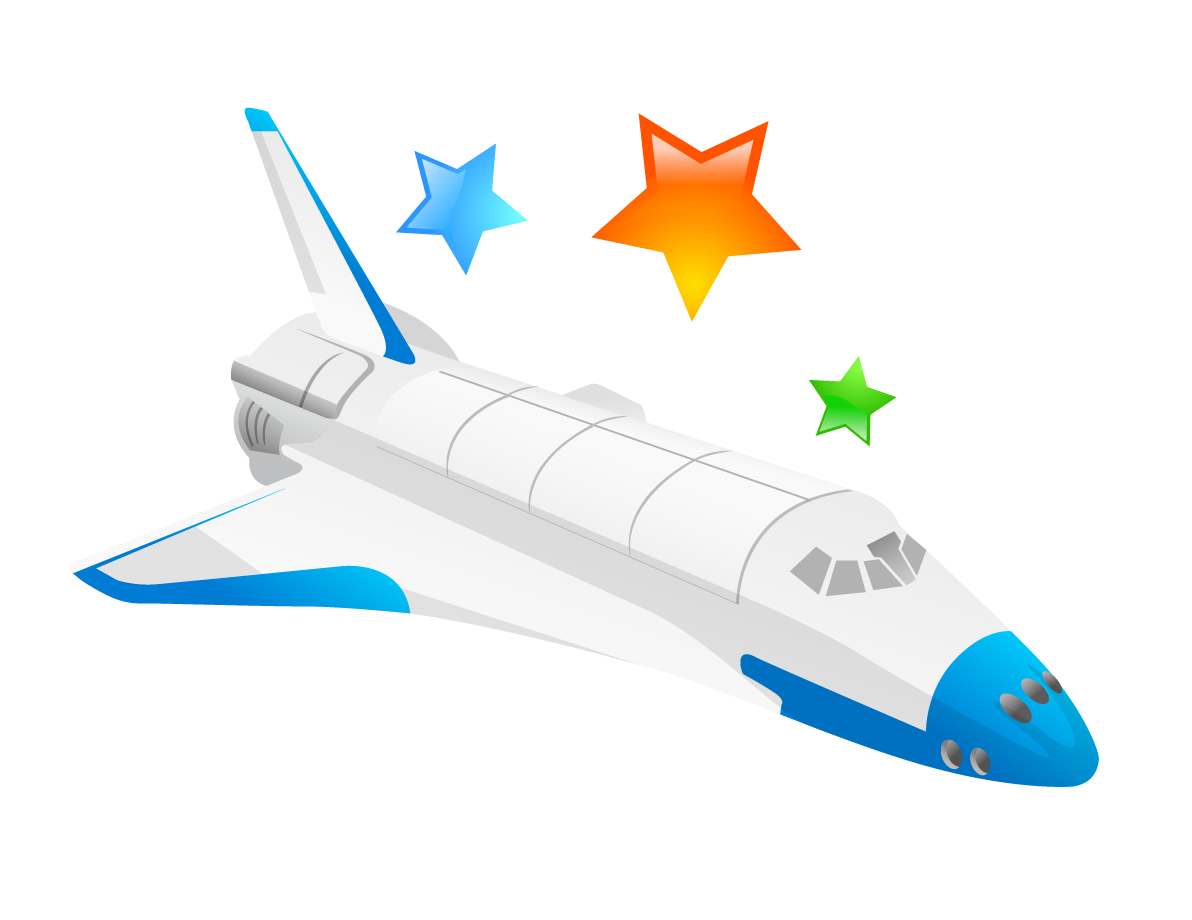 clip Airplane flight rocket cartoon. Vector aviation spacecraft