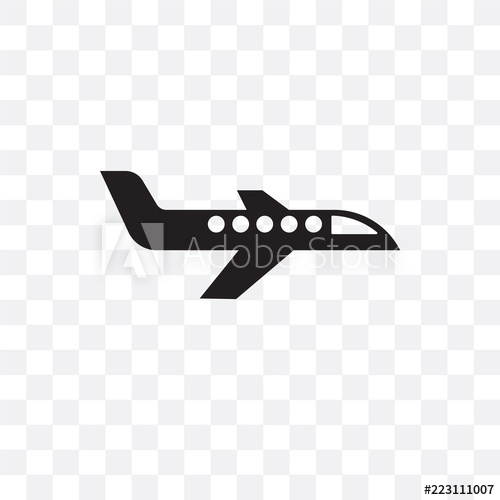 clip black and white download Vector aviation transparent. Airplane icon isolated on