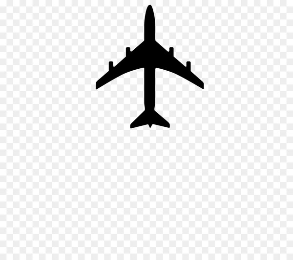 graphic free Airplane black and white. Vector aviation transparent