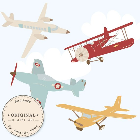clip library stock Vector aviation vintage airplane. Professional clipart airlplane vectors