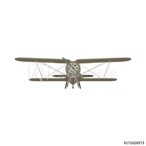 vector freeuse download Biplane plane old retro. Vector aviation vintage airplane