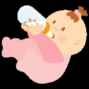 jpg freeuse stock Vector baby art. Girl drinking free images