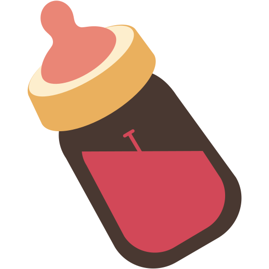 graphic freeuse library Madewithkwippe kwippe is an. Vector baby bottle