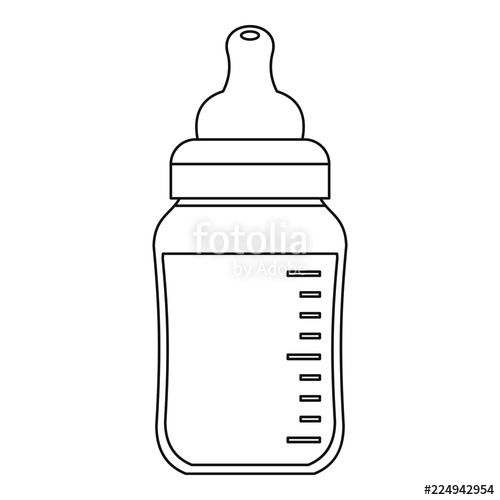clipart library Vector baby bottle. Icon outline illustration of