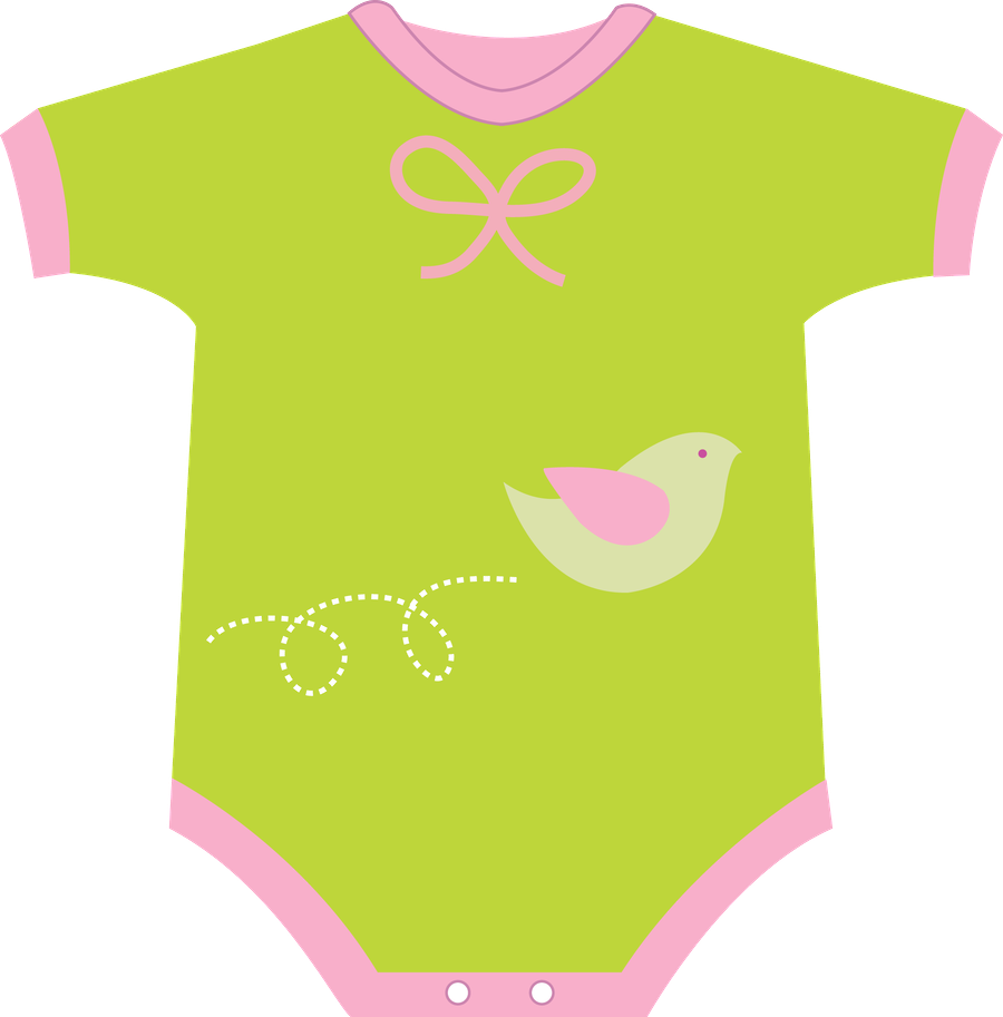 image download Vector baby clothes. Minus say hello art