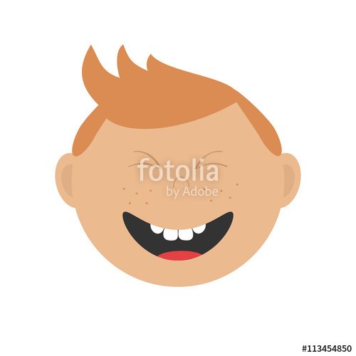 clip art transparent download Vector baby emotion. Laughing boy icon cute