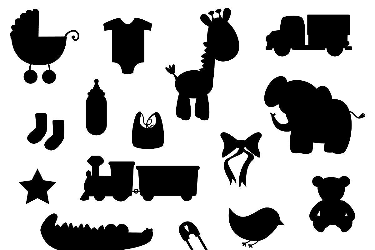 freeuse download Top silhouette clip art. Vector baby file