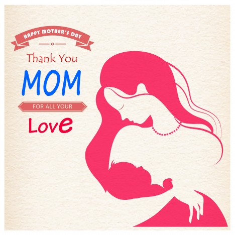 jpg transparent stock Mom hold happy mother. Vector baby mother's day