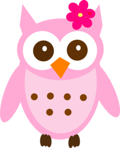 jpg freeuse stock Pink clip art at. Vector baby owl