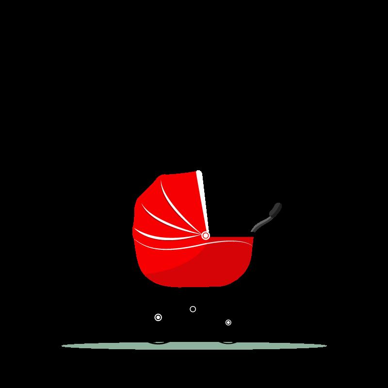 jpg free stock Vector baby stroller. Transport infant child mother