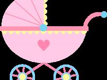 clip free Vector baby stroller. Clipart ba clip art