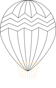 png library download Vector balloon black and white. Hot air clip art