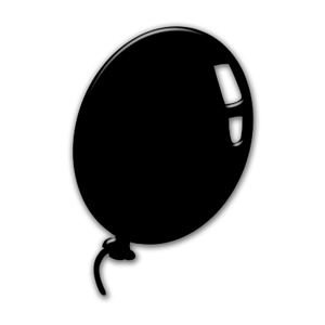 image freeuse download Birthday clipart download wallpaper. Vector balloon black and white