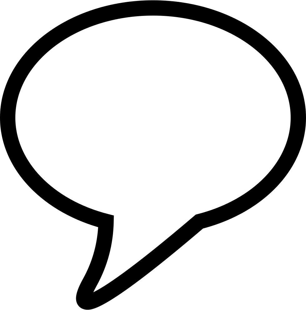 image transparent stock Speech outline for svg. Vector balloon conversation