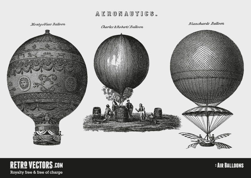 clipart free download Vector balloon vintage. Air balloons vectors royalty