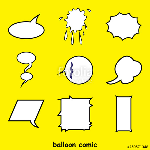clipart freeuse stock Vector balloon word. Comic elements of verbal