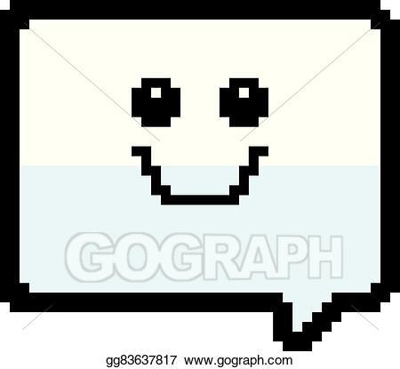 clip stock Vector balloon word. Art smiling bit cartoon