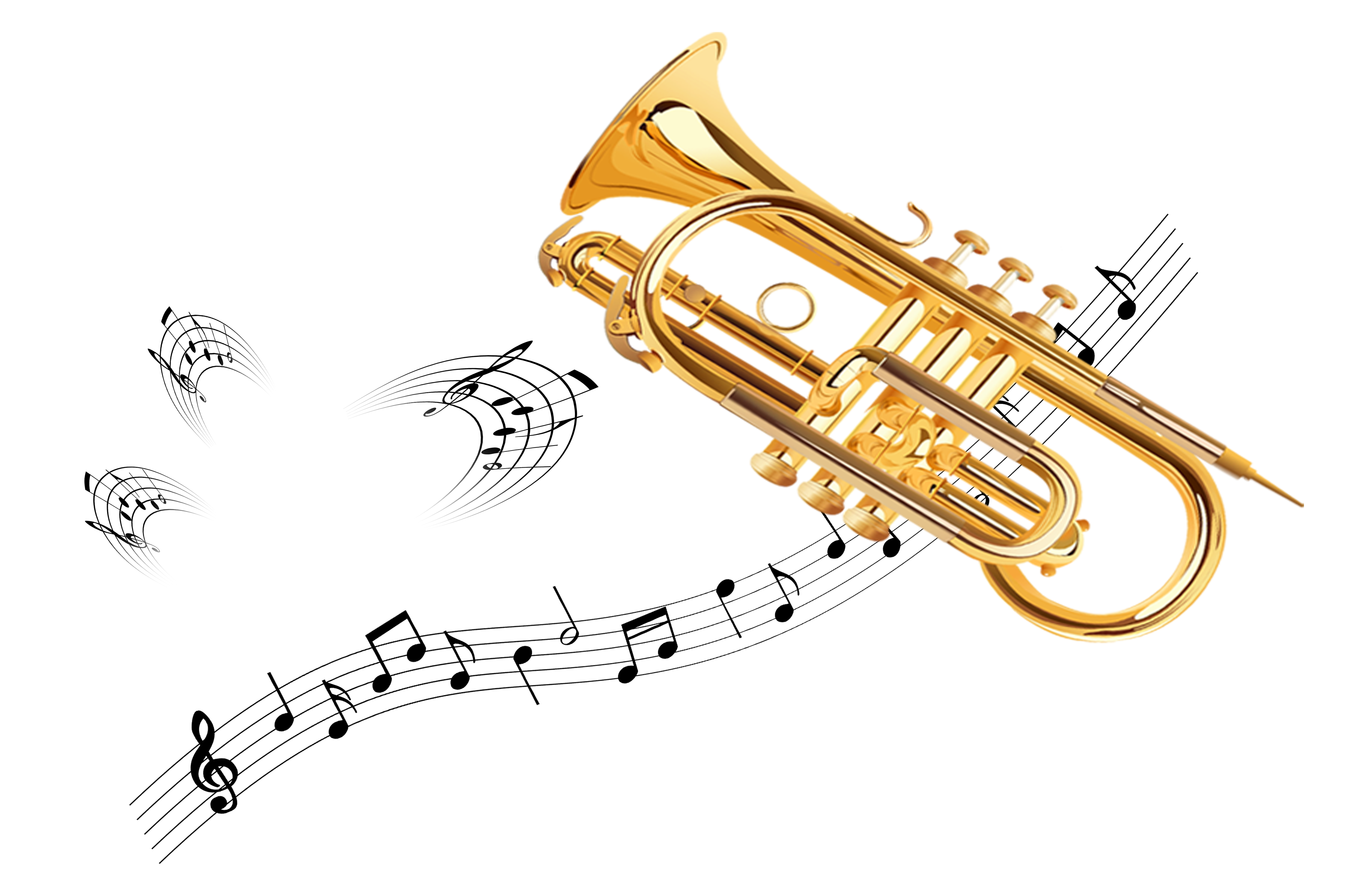 clip free Vector band brass.  clarinet trumpet for