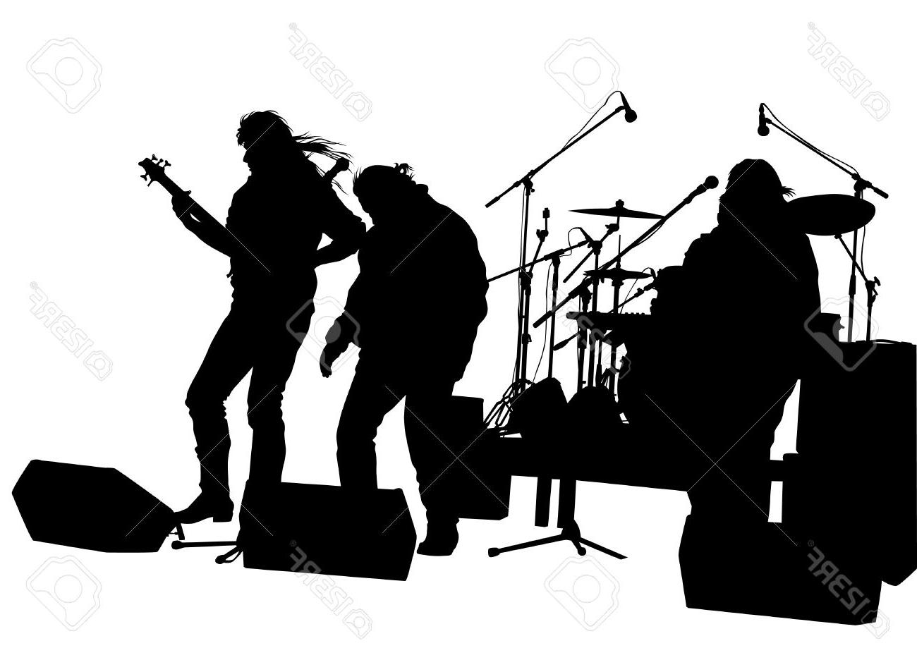 clip free stock Unique concert design free. Vector band clip art