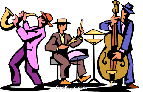 jpg royalty free  jazz clipart for. Vector band clip art
