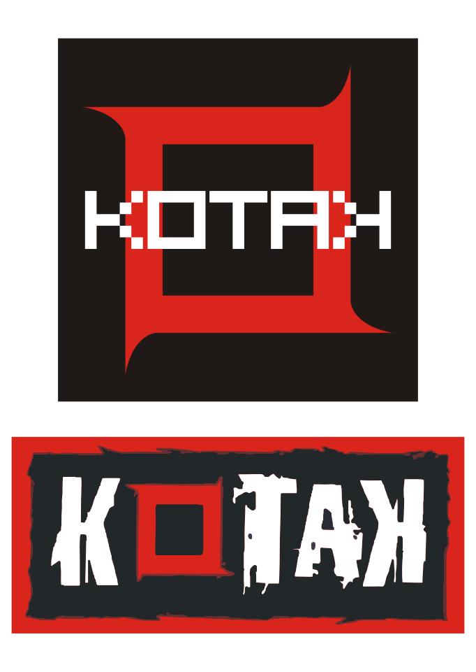 black and white Logo Kotak Band Vector