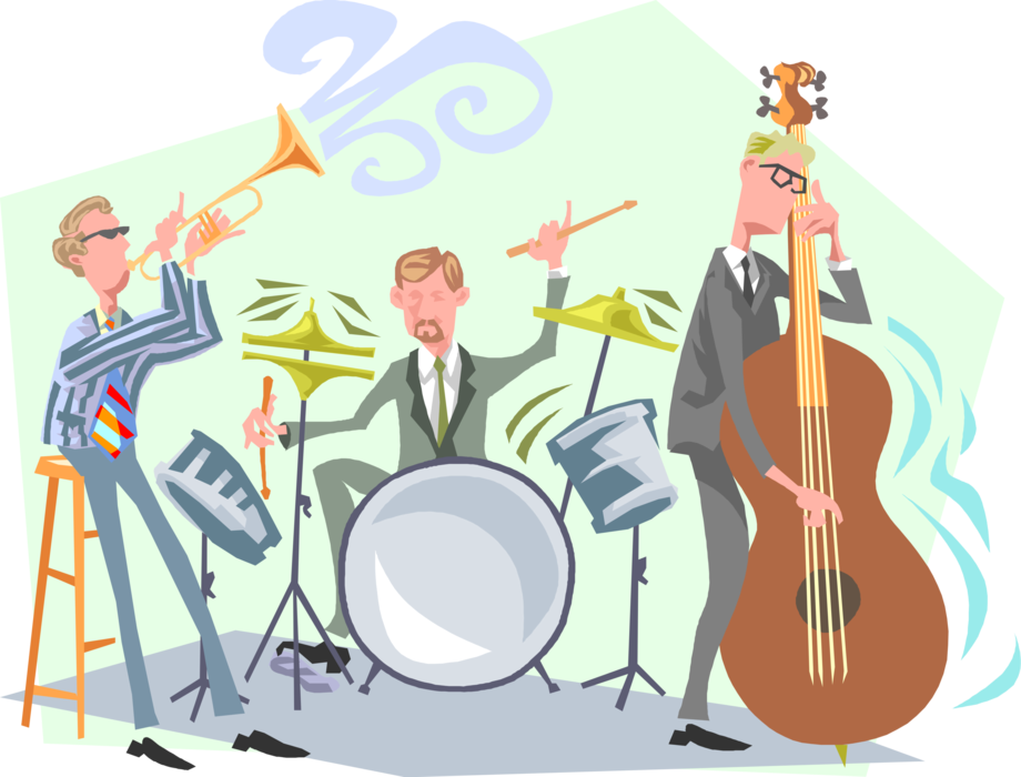 svg transparent Vector band illustration. Dixie jazz musicians perform
