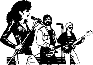 svg royalty free Vector band person. Music group clip art