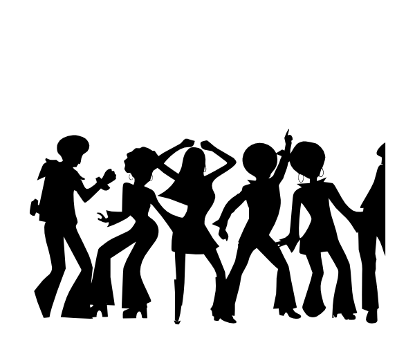 jpg black and white download Vector band shadow. Disco clip art at