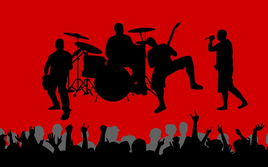 png black and white download Vector bands background. Music vectors shadows crowd