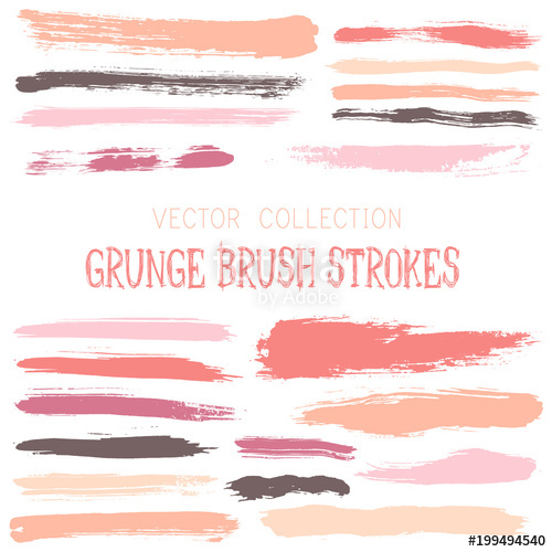 jpg royalty free download Vector band vintage. Pink paint brush strokes