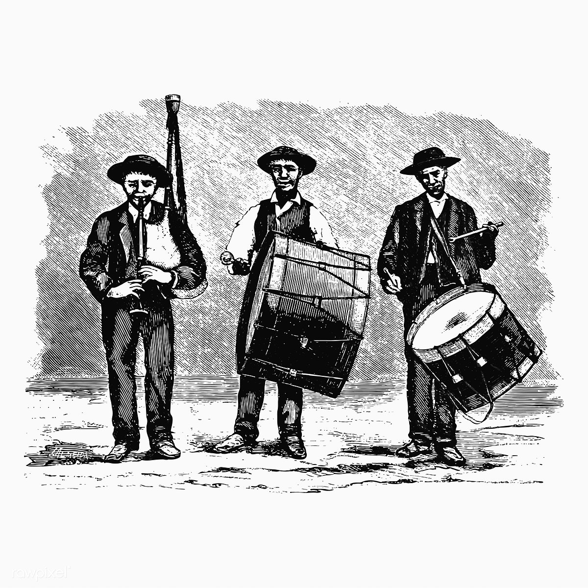 clipart free library Marching drawing free stock. Vector band vintage