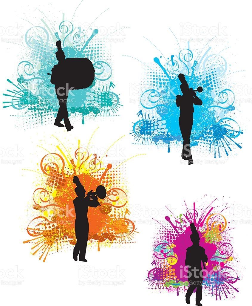 banner transparent library Vector bands background. Tight graphic silhouette illustration