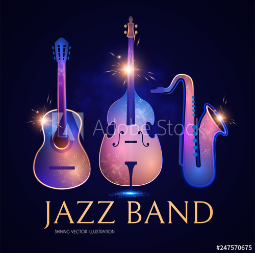 image transparent stock Vector bands bass guitar. Music instruments double and