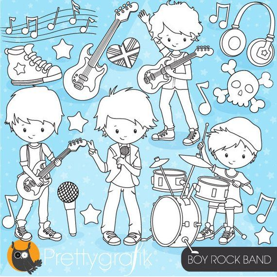 clipart royalty free download Vector bands kids rock. Buy get boy band