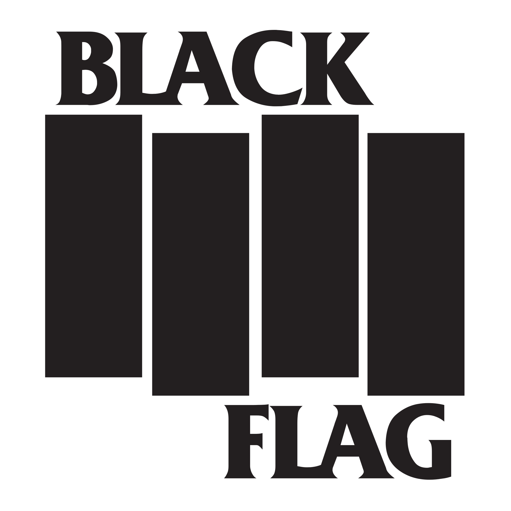 clipart stock File black flag logo. Vector bands poster