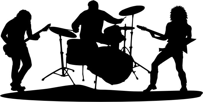 clipart free library Vector bands silhouette. Free band cliparts download