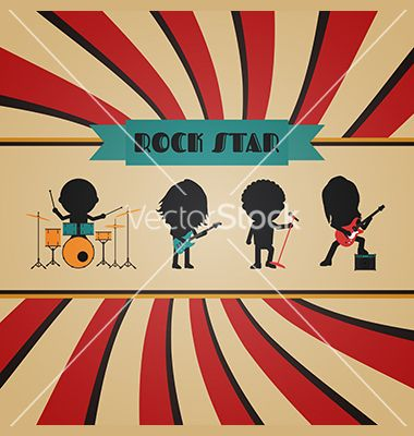 picture black and white library Vector bands vintage.  retro rock band