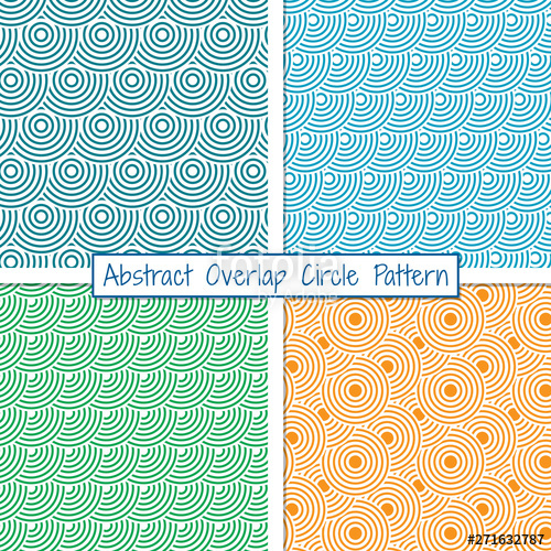 banner  seamless patterns of. Vector bands vintage