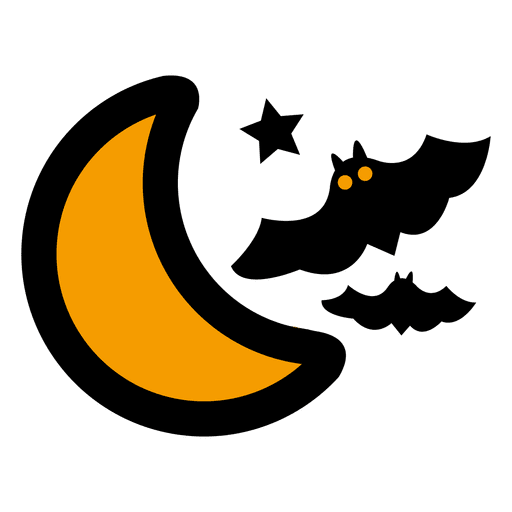 clipart library library Flying bats moon