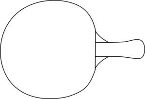 clip free library Table Tennis Racket Outline Clip Art at Clker