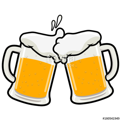 graphic royalty free library Vector beer. Toasting stock image and