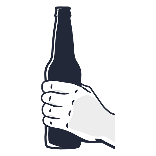clipart transparent stock Hand holding beer bottle
