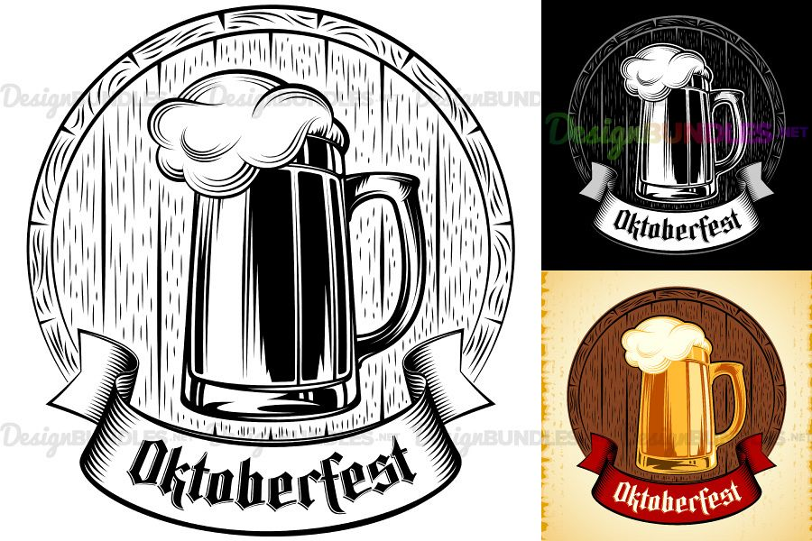 svg library Vector beer. Glass barrel foam oktoberfest