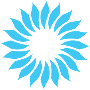 clip library library Flower design logo eps. Vector blue