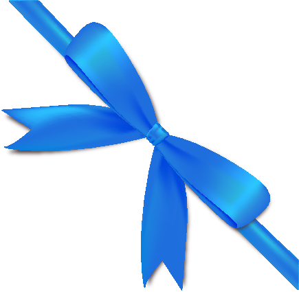 svg free Bow ribbon icon data. Vector blue